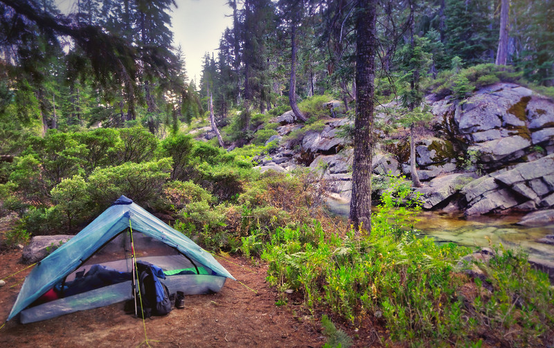 Zpacks Duplex and camp along Canyon Creek