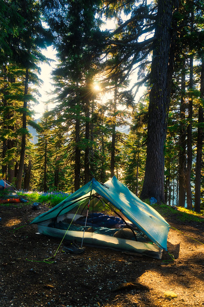 Camp above Green Lake