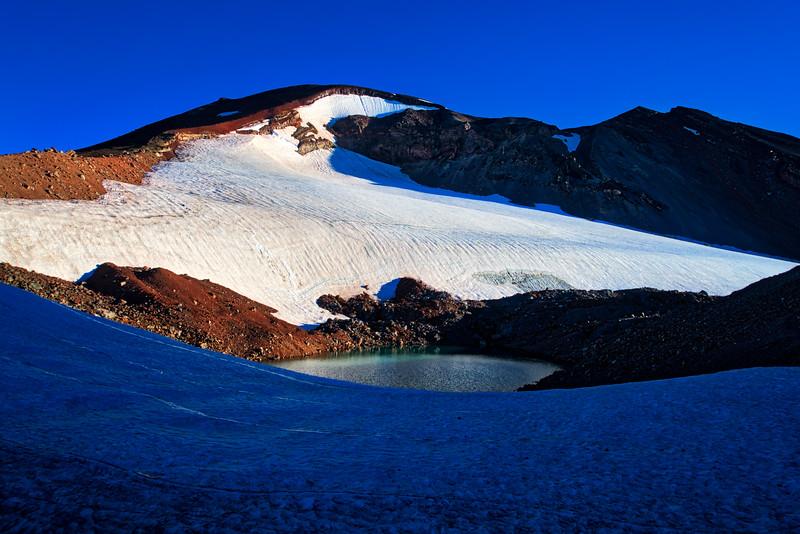 A smal glacial pool below the Lewis Glacier