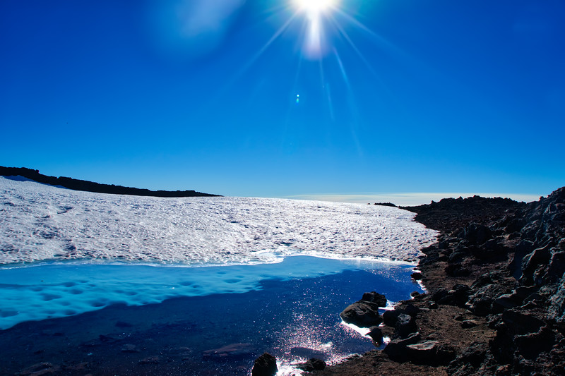 Teardrop Pool at the summit of South Sister