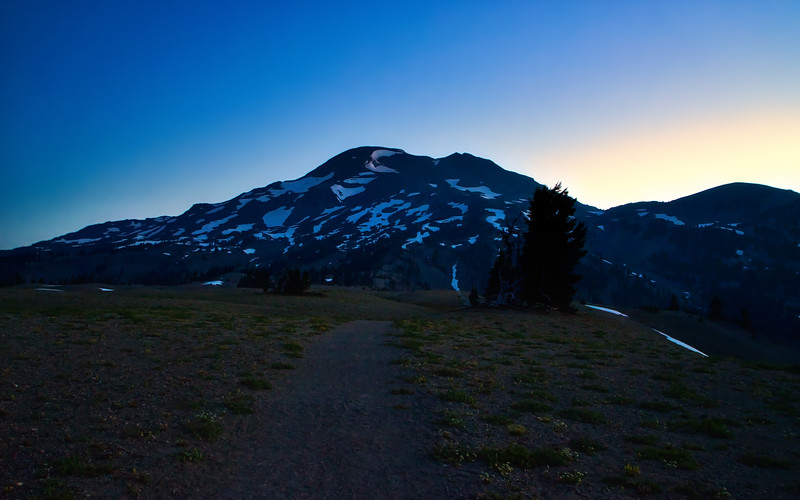 The South Sister at dawn