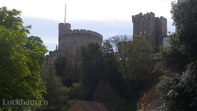 Windsor Castle, the official residence of The Queen