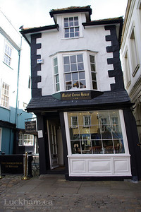The Crooked House of Windsor, built in 1592, rebuilt in 1687, aquired its famous tilt due to using unseasoned green oak.