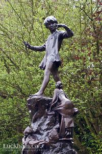 London is... 'Peter Pan steals the kids in Kensington Park'