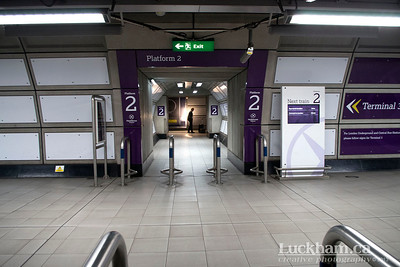 London is... futuristic arrival at Heathrow