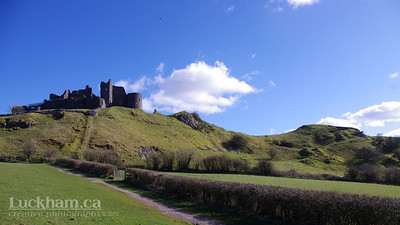 Castle Carreg Cennen in the Brecon Beacons in Wales