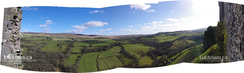 a panoramic view from Carreg Cennen