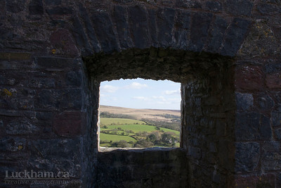 the view from Carreg Cennen