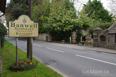 Banwell, Somerset and the Gates of Banwell Abbey