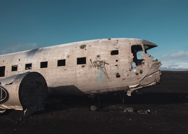 Crashed plane in Southern Iceland