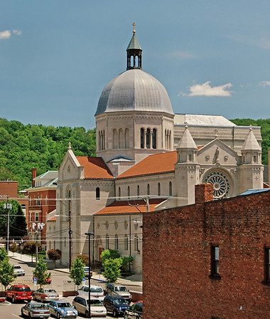 View of Downtown Wheeling, West Virginia.