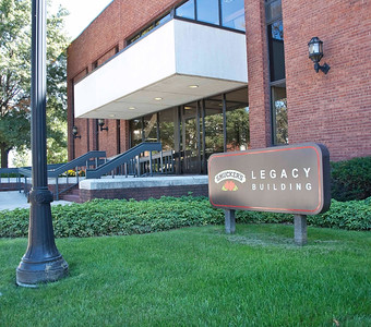 Photo: J. M.Smucker's Legacy Building, which is a part of the corporate headquarter campus in Orrville, Ohio.  Roles in Ag-Bio Cluster: Leading food products producer, major corporate headquarters, product development and innovation, a leading brand generator for Wayne County's ag-bio and food products cluster.   Website: www.smuckers.com