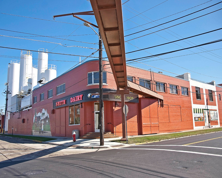 """Photo: Smith Dairy located in downtown Orrville, Ohio (Wayne County, Ohio).<br /> <br /> Role in Wayne County's Ag-Bio Cluster: Leading regional dairy and dairy products manufacturer. Corporate headquarters.<br /> <br /> Website: <a href=""""http://www.smithdairy.com"""">http://www.smithdairy.com</a>"""