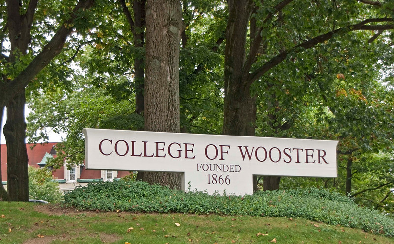 """Photo: Front entrance sign for the College of Wooster.  Description: he College of Wooster is a private liberal arts college primarily known for its """"Independent Study"""" program. It has roughly 1,800 students and is located in Wooster, Wayne County, Ohio (approximately 60 miles (97 km) south of Cleveland). Founded in 1866 by the Presbyterian church as Wooster University, it was from its creation a co-educational institution. The school is a member of The Five Colleges of Ohio and the Great Lakes Colleges Association. As of June 2008, Wooster's endowment stood at approximately $287 million.  Wooster is one of forty colleges named in Loren Pope's influential book Colleges That Change Lives, in which he called it his """"...original best-kept secret in higher education."""" It is consistently ranked among the nation's top liberal arts colleges, according to U.S. News and World Report. In US News' """"Best Colleges 2010"""", Wooster ranked tenth among national liberal arts colleges in the category of """"Best Undergraduate Teaching""""  Role in Wayne County's Ag-Bio Cluster: One of America's best liberal arts colleges, tourism and travel generator, educational programming in Biochemistry and Molecular Biology, Biology, Chemistry, Business Economics, Economics, Environmental Studies, Pre-Professional training in Engineering and Forestry & Environmental Studies  Website: www.wooster.edu/"""