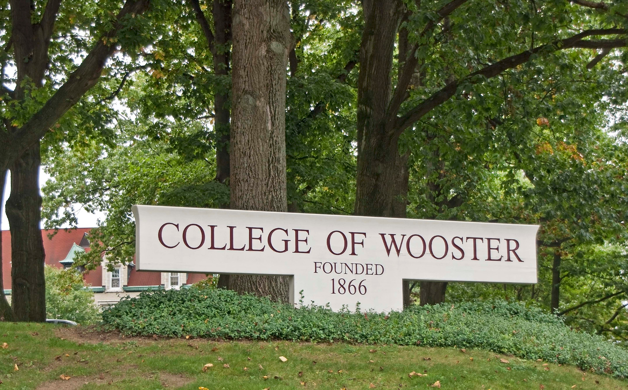 "Photo: Front entrance sign for the College of Wooster.  Description: he College of Wooster is a private liberal arts college primarily known for its ""Independent Study"" program. It has roughly 1,800 students and is located in Wooster, Wayne County, Ohio (approximately 60 miles (97 km) south of Cleveland). Founded in 1866 by the Presbyterian church as Wooster University, it was from its creation a co-educational institution. The school is a member of The Five Colleges of Ohio and the Great Lakes Colleges Association. As of June 2008, Wooster's endowment stood at approximately $287 million.  Wooster is one of forty colleges named in Loren Pope's influential book Colleges That Change Lives, in which he called it his ""...original best-kept secret in higher education."" It is consistently ranked among the nation's top liberal arts colleges, according to U.S. News and World Report. In US News' ""Best Colleges 2010"", Wooster ranked tenth among national liberal arts colleges in the category of ""Best Undergraduate Teaching""  Role in Wayne County's Ag-Bio Cluster: One of America's best liberal arts colleges, tourism and travel generator, educational programming in Biochemistry and Molecular Biology, Biology, Chemistry, Business Economics, Economics, Environmental Studies, Pre-Professional training in Engineering and Forestry & Environmental Studies  Website: www.wooster.edu/"