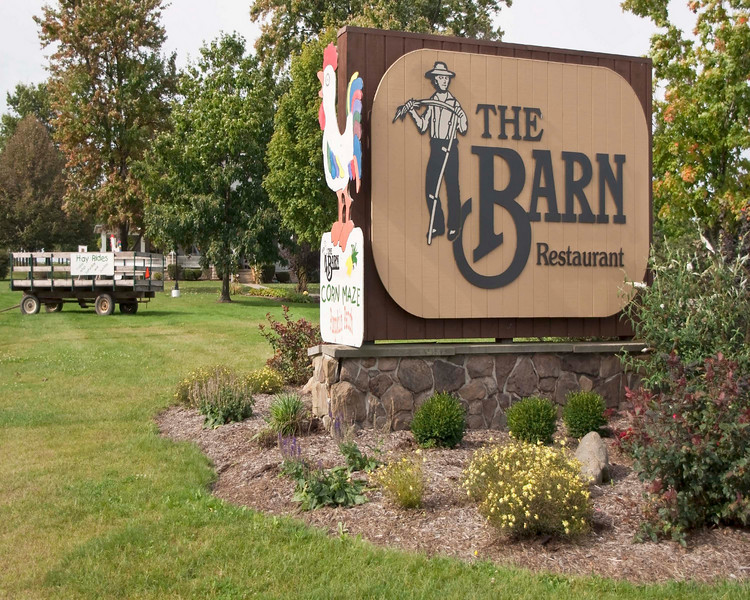 "Photo: Front entrance sign for The Barn Restaurant in Smithville, Ohio (Wayne County, Ohio).<br /> <br /> Description: Restaurant, retail shops, and banquet facilities exist on the property.<br /> <br /> Role in Wayne County's Ag-Bio Cluster: Tourism and travel generator, retail shops, restaurant.<br /> <br /> Website: <a href=""http://www.thebarnrest.com/"">http://www.thebarnrest.com/</a>"