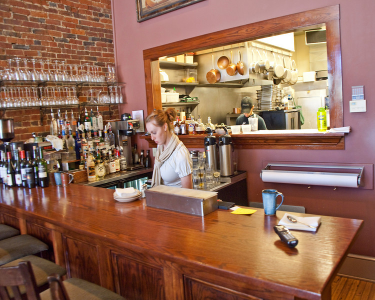 Photo: View of the South Market Bistro, an upscale restaurant in downtown Wooster, Ohio (Wayne County, Ohio).   Description: The idea for opening the South Market Bistro in downtown Wooster first came to head chef Michael Mariola in late 2001, but the concept behind his approach to cooking has a much longer history, following in the footsteps of such sustainability pioneers as Parker Bosley of Parker's New American Bistro in Cleveland, Ohio, and Alice Waters of Chez Panisse in Berkeley, California. Major user of locally grown foods.   Website: http://www.southmarketbistro.com/
