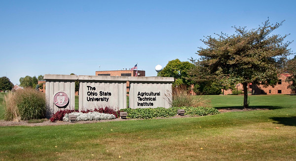 Photo: Front entrance sign. Agricultural Technical Institute (ATI) of The Ohio State University.   Description: Located in Wooster, Ohio, ATI is an associate degree-granting program within the College of Food, Agricultural, and Environmental Sciences at The Ohio State University. Students participate in a curriculum that includes general and basic studies, hands-on experience and a paid industry internship. Ohio State ATI is the largest institution of its kind in the U.S., enrolling approximately 800 students and offering 28 programs of study. Ohio State ATI maintains a 99 percent job placement rate for all graduates within four months of graduation. Ohio State University's Ohio Agricultural Research and Development Center is adjacent to the campus.  Role in Wayne County's Ag-Bio Cluster: Higher education leader, travel and tourism generator, workforce training related to horticulture, floral design and marketing, beef and cattle production, crop management, environmental resource management, greenhouse management, horse production and management, landscape design, nursery management, swine production and management, and various aspects of business related to agriculture.  Website: http://ati.osu.edu/