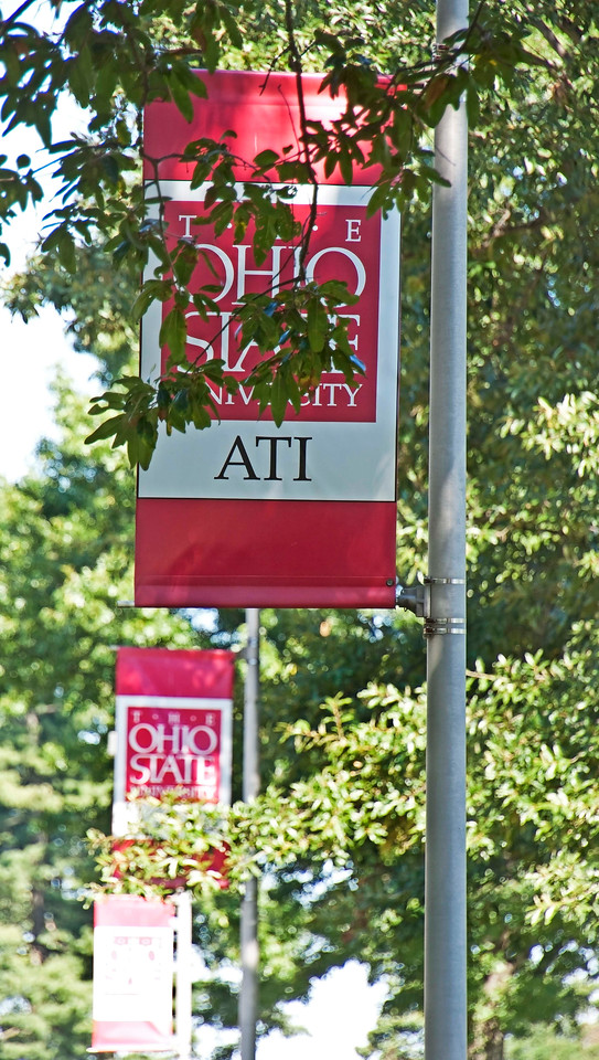 Photo: Banners on the campus of the Agricultural Technical Institute (ATI) of The Ohio State University in Wooster, Ohio.  Role in Wayne County's Ag-Bio Cluster: Higher education leader, workforce training  Website: http://ati.osu.edu/