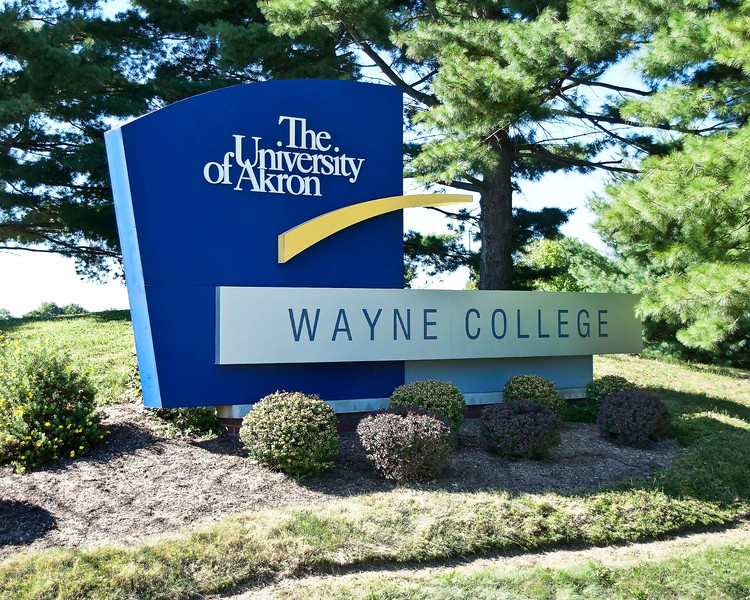 "Photo: Front sign of Wayne College in Orrville, Ohio (Wayne County, Ohio). <br /> <br /> Description: Wayne College is a branch campus of the University of Akron offering two-year degrees and a transfer program to the main campus in Akron resulting in a four-year degree. It is located in Orrville, Ohio.<br /> <br /> Role in Wayne County's Ag-Bio Cluster: Higher education provider, offering degrees in a wide range of fields related to science, engineering, business and many other fields. As a part of the University of Akron system, Wayne College has access to the major science and engineering resources available on the University's main campus in Akron.<br /> <br /> Website: <a href=""http://www.wayne.uakron.edu/"">http://www.wayne.uakron.edu/</a>"