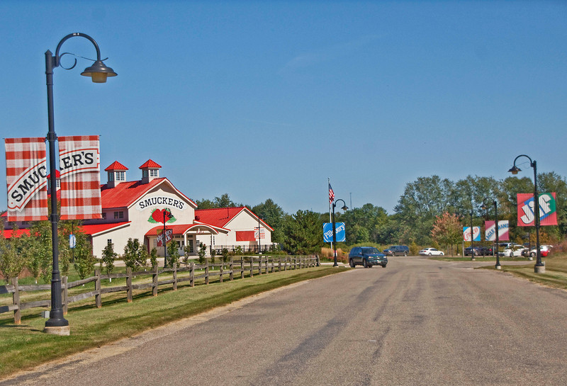 Photo: J. M. Smucker's retail store in Orrville, Ohio  Roles in Ag-Bio Cluster: Leading food products producer, major corporate headquarters, product development and innovation, leading brand generator for Wayne County's ag-bio and food products cluster.   Website: www.smuckers.com