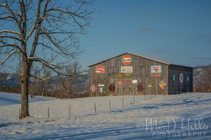 Winter At The Sign Barn