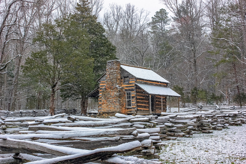 John Oliver Cabin Winter