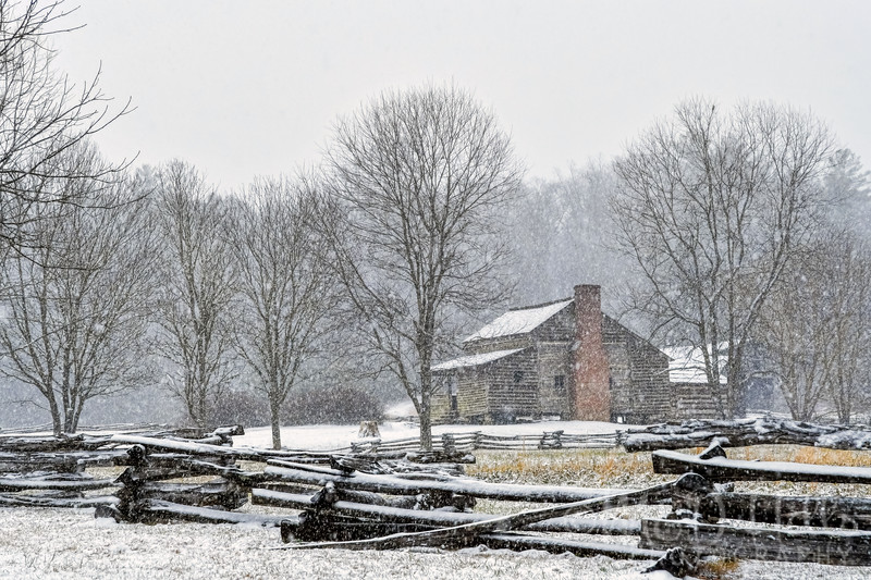 Snow Squall At The Lawson Homestead