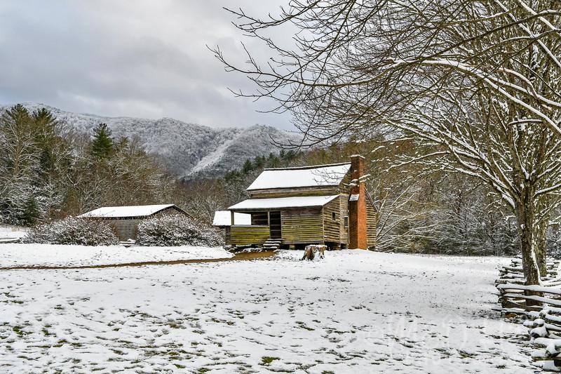 A Lawson Cabin Winter