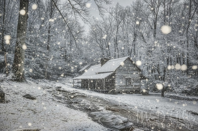 Snow Falling At The Ogle Homestead