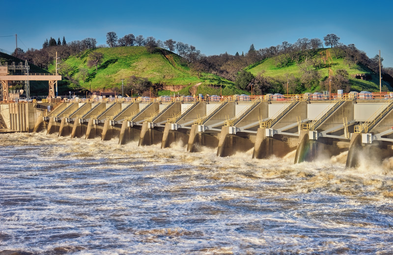 Nimbus Dam after January Storms