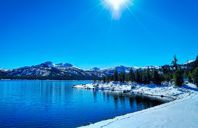 Caples Lake and Round Top in the winter
