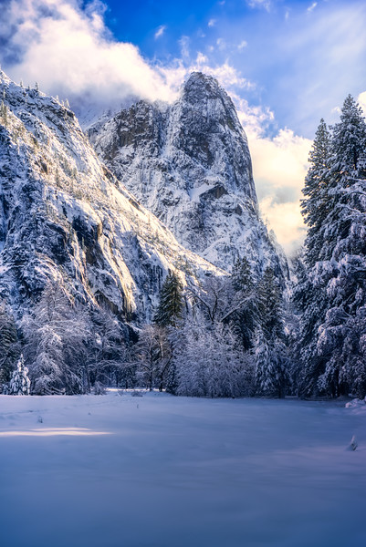 A winter afternoon in Yosemite Valley