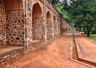 IND_0199-7x5-Humayans tomb-Wall