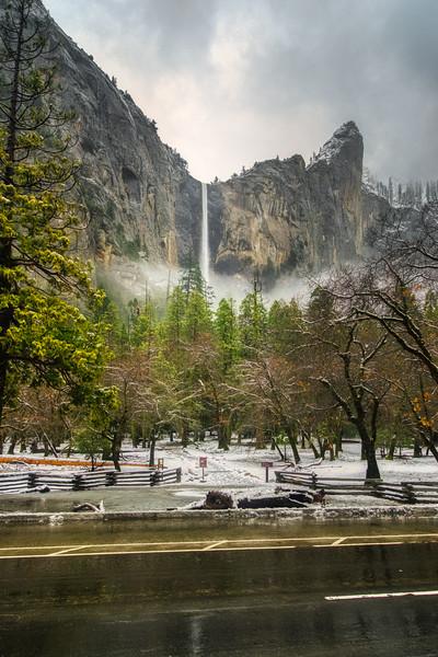 Bridalveil Falls before the storm
