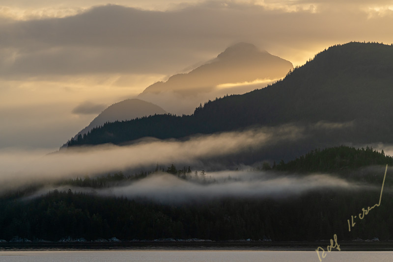Early morning in beautiful Knight Inlet, First Nations Territory, British Columbia, Canada