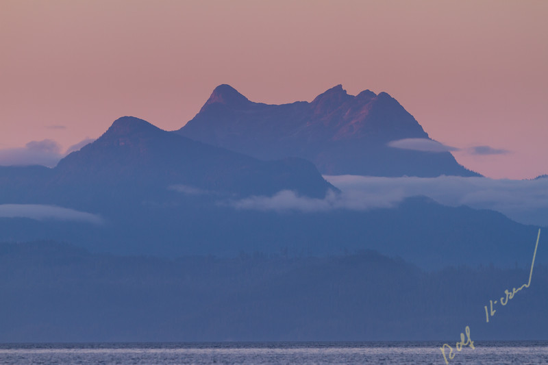 Mount Stephens after sunset, British Columbia Coast Mountains, british Columbia, Canada