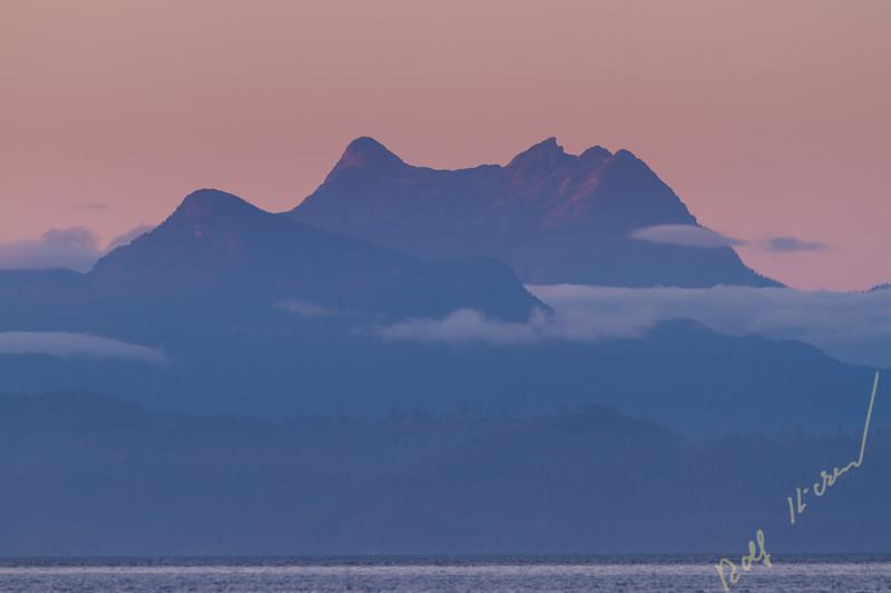 Mount Stephens after sunset, British Columbia Coast Mountains, british Columbia, Canada