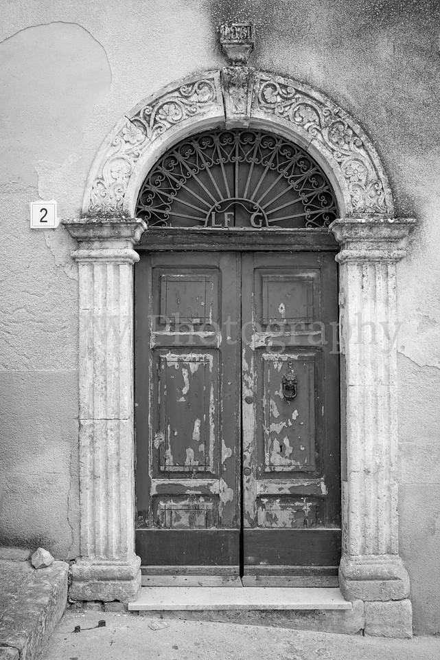 Door in Black & White