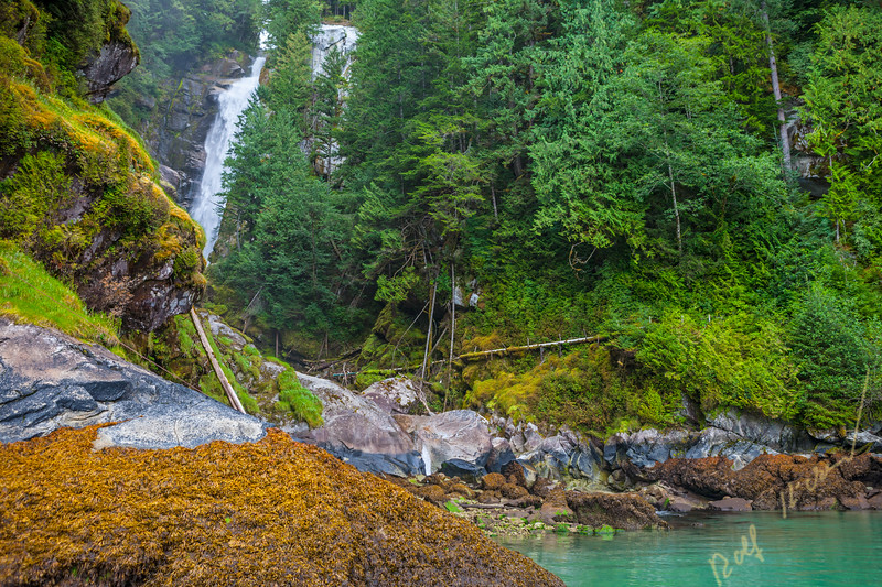 Millard Creek waterfall, Knight Inlet, British Columbia, Canada