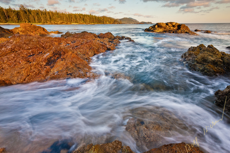 Long exposure along the wild west coast of Vancouver Island at Cape Scott, British Columbia, Canada.