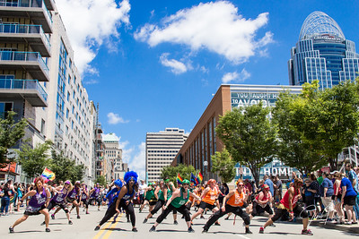 Dance Flash Fusion in the 2017 Cincinnati Pride Parade on June 24, 2017