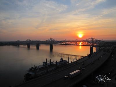 Sunrise on Ohio River