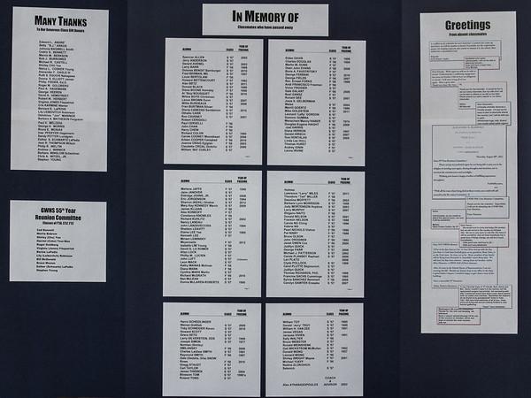 Reunion information board