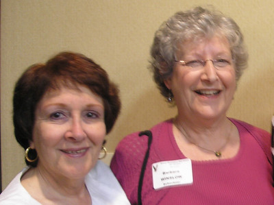 (l-r) Nina (Pohl) Lipney, Barbara (Winslow) Schechner