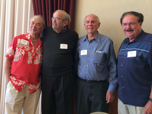 (l-r) Nick Massenkoff - S'57, Bill McDonald - S'57, David Hemstreet - S'57, Matt Miller - S'57
