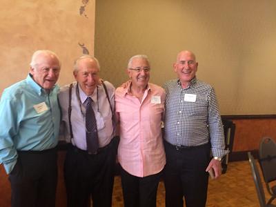 (l-r) Morrie Bobrow - S'57, Ron Rosberg - S'57, Barry Tompkins - S'57, Len Slater - S'57