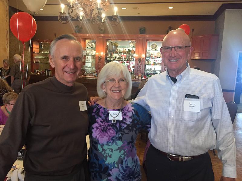 (l-r) Frank Colligan - S'57, Carole (Klingaman) Colligan - S'57, Roger Goldberg - S'57