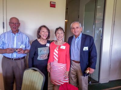 Dr. Newton Harband, Shirley (Chu) Yee, Patricia (Louie) Seid, Dr. Peter Singer
