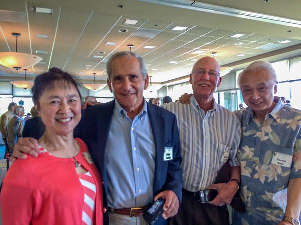 (l-r) Patricia (Louie) Seid, Dr. Peter Singer, Dr. Newton Harband, Dr. Derald Seid